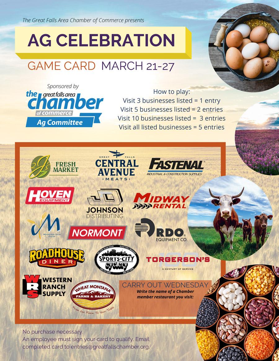 Ag Celebration Week Game Card